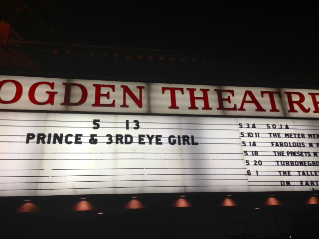 Prince! Live at the Ogden Theatre!