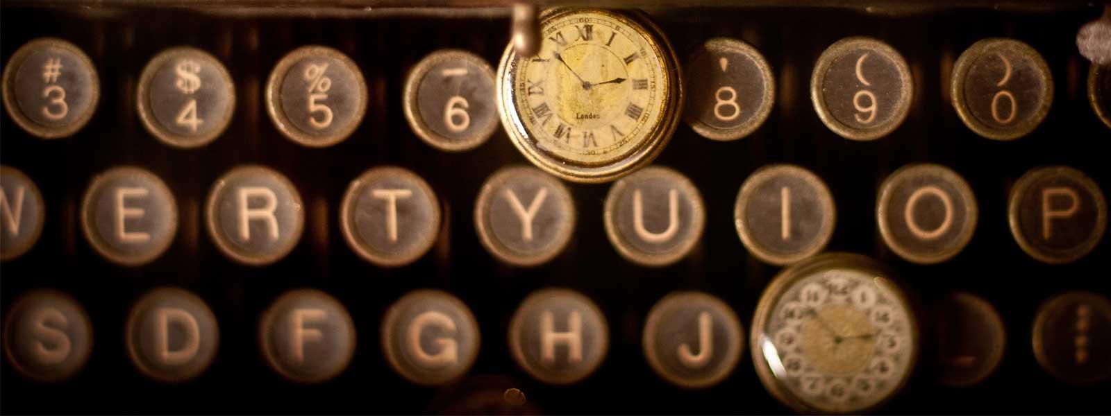 clock-and-typewriter