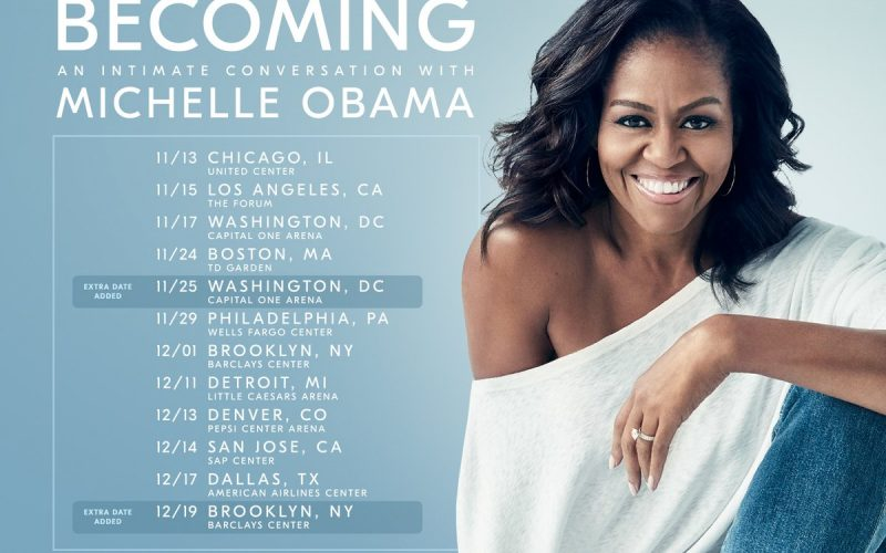 Michelle Obama: Book Tour = Concert Tour